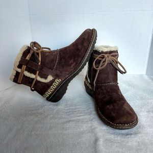 UGG Cove 5178 Brown Shearling Ankle Boots 10 Laced